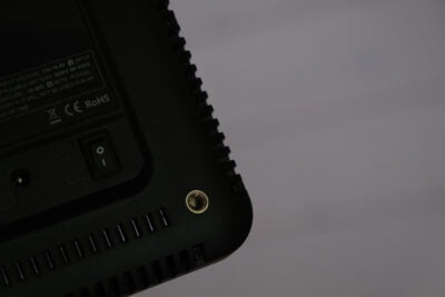 A tripod mount on the Godox LEDP260C.
