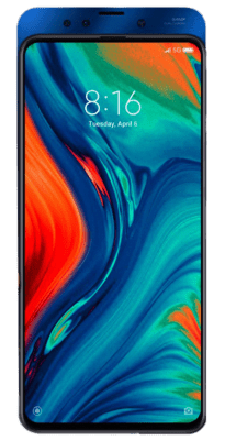 The Xiaomi MI MIX 3 from the front