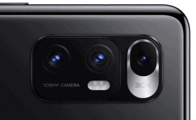 The Xiaomi MI MIX Fold camera array.